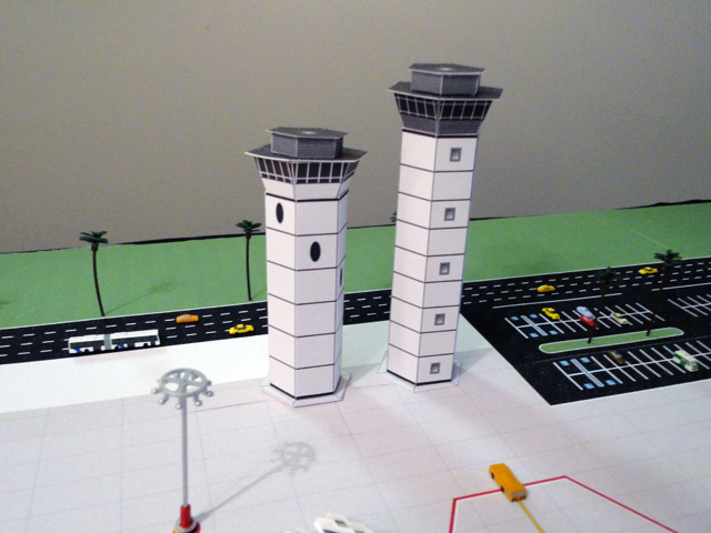 model airport control-tower