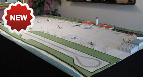 1:400 Model Airport Single Runway Tropical