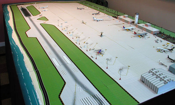 Model Airport Tropical Single Runway 1:500 scale